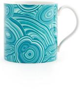Jonathan Adler Blue Malachite Carnaby Porcelain Mug
