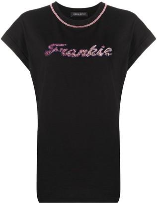 Frankie Morello crystal-embellished crew neck T-shirt