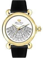 Glam Rock Women's GR28037 Vintage Glam Analog Display Swiss Quartz Black Watch