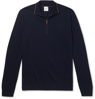 Paul Smith Slim-Fit Merino Wool Half-Zip Sweater