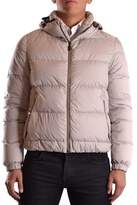Geospirit Men's Beige Polyamide Down Jacket.