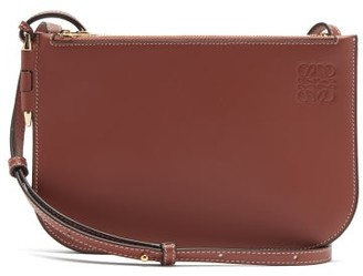 Loewe Gate Double-zip Leather Cross-body Bag - Brown