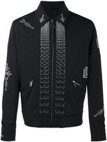 Lanvin arrow stitch jacket - men - Virgin Wool/Viscose/Cotton/Polyester - 48