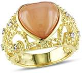 Catherine Malandrino Heart Filigree Gemstone Ring.