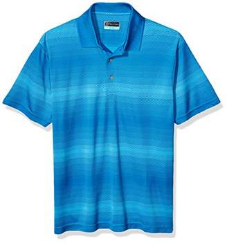 PGA TOUR Men's Fade Out Geo Jacquard Short Sleeve Golf Polo Shirt