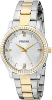 Pulsar PH8100 Women's Stainless Two-Tone Bracelet Band Dial Watch
