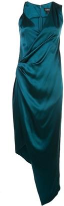 Cushnie Asymmetric Silk Twist Dress
