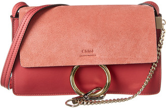 Chloé Faye Small Leather & Suede Shoulder Bag