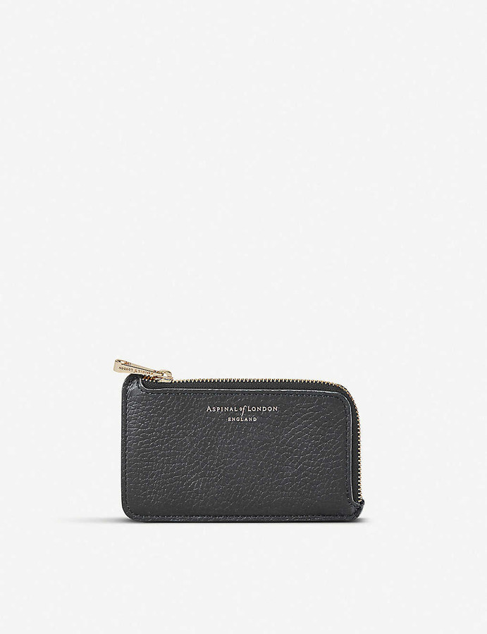 Aspinal of London Small zipped leather coin purse