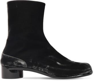Maison Margiela 30mm Tabi Velvet Ankle Boot