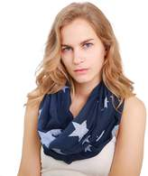 MissShorthair Womens Lightweight Star Print Scarfs Fashion Shawl Wraps