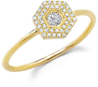 Ron Hami Love Bolt 14k Diamond Double-Halo Ring