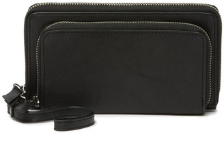 Lucky Brand Inzy Continental Double Zip Leather Wallet