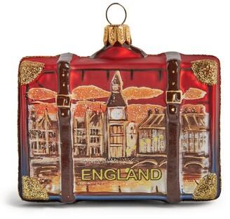 Harrods England Suitcase Christmas Decoration