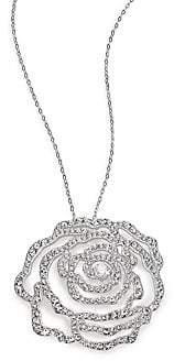 Adriana Orsini Women's Pavé Crystal Rosette Pendant Necklace