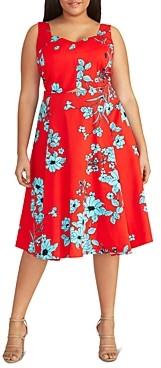 Rachel Roy Plus Carrolee Floral Sweetheart Dress