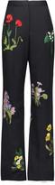Stella McCartney Kassidy embroidered wool wide-leg pants