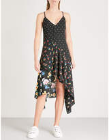 Mo&Co. Floral-print crepe dress