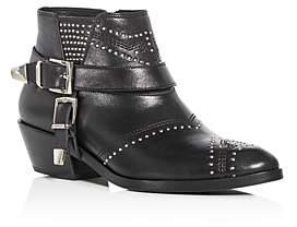 Anine Bing Women's Bianca Studded Leather Mid Heel Booties