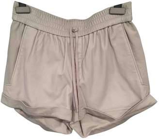 Helmut Lang \N Grey Leather Shorts
