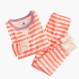 J.Crew Girls' pajama set in contrasting stripes
