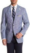 Kroon Bono Blue Two Button Notch Lapel Jacket