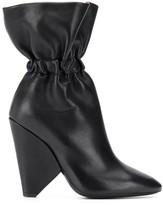Saint Laurent elasticated detail ankle boots