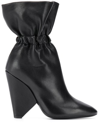Saint Laurent Elasticated Detail Ankle Boots