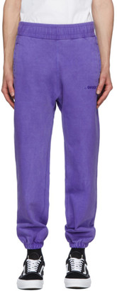 Awake NY Purple Embroidered Logo Lounge Pants