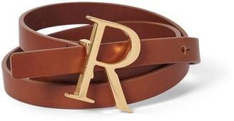 Rodebjer Logo Belt in Brown/Gold