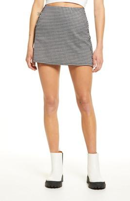 La La Land Creative Co Check Miniskirt
