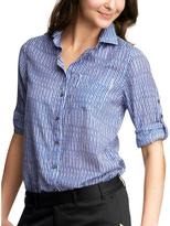 Striped silky shirt