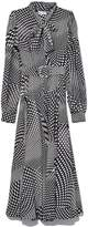 Co Tie Collar Dress in Black/White