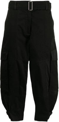J.W.Anderson cropped D-ring buckle trousers