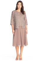 Alex Evenings 117196 Popover Dress with Open Front Jacket
