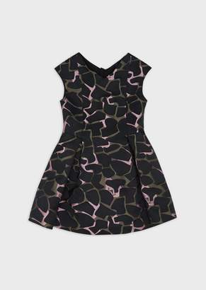 Emporio Armani Camouflage-Print Flared Dress