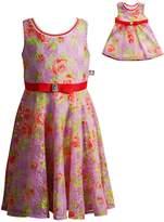 Dollie & Me Girls 4-14 Floral Overlay Dress Set
