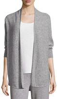 Neiman Marcus Dolman-Sleeve Textured Cashmere Cardigan