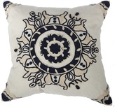 A&B Home 18 x 18 Embroidered Pillow - Gray