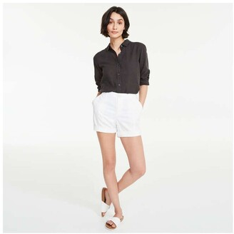 Joe Fresh Women's Twill Shorts, White (Size 12)