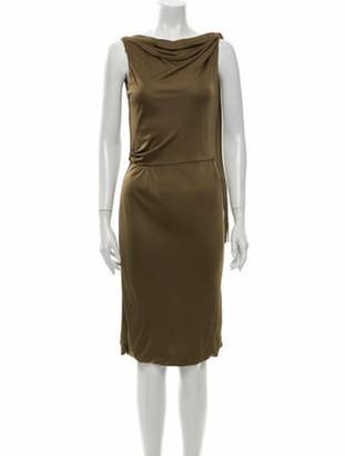 Gucci 2008 Knee-Length Dress Brown