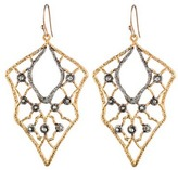 Alexis Bittar Jardin de Papillon Gold Lace Wire Earrings