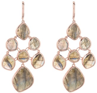Monica Vinader RP Siren Labradorite Chandelier Earrings