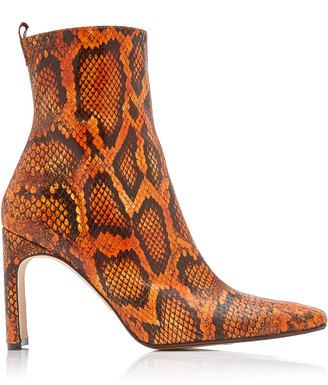Miista Marcelle Snake-Effect Leather Ankle Boots
