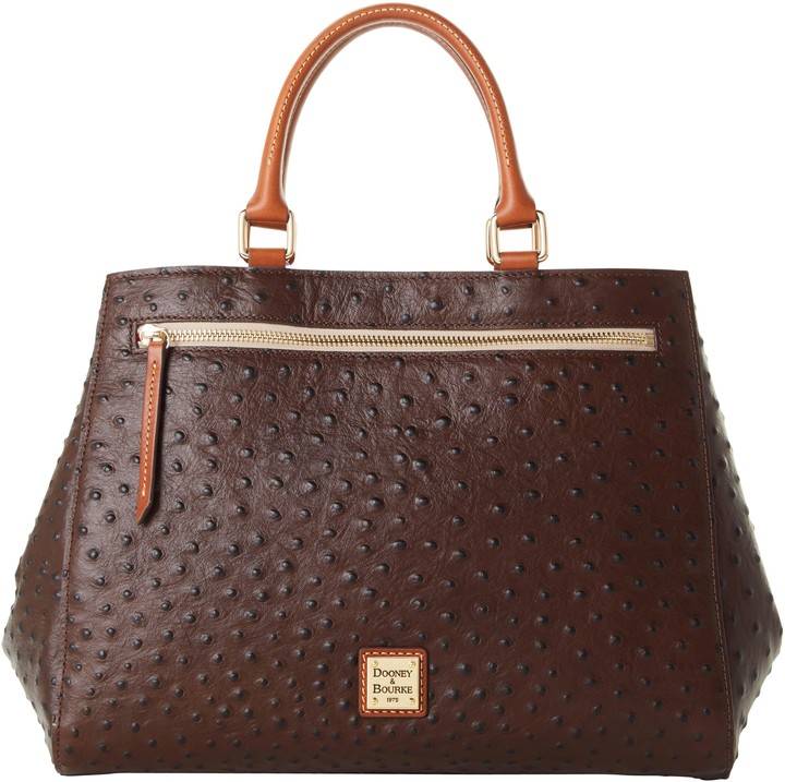 Dooney & Bourke Ostrich Zip Satchel