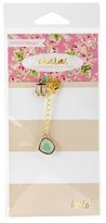 "Webster Charm Embellishment Well Traveled-Multicolor 6""x3"""