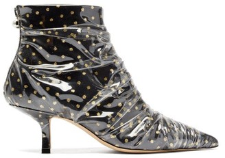 Midnight 00 Antoinette Polka-dot Tulle & Pvc Ankle Boots - Black Gold