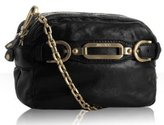 black leather 'Tecla' chain shoulder bag