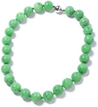 Shop Lc 925 Silver Green Dyed Jade Necklace with Magnetic Clasp Size 20 In - Size 20''