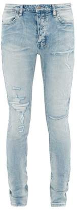 Ksubi Van Winkle Distressed Skinny-fit Jeans - Mens - Light Blue